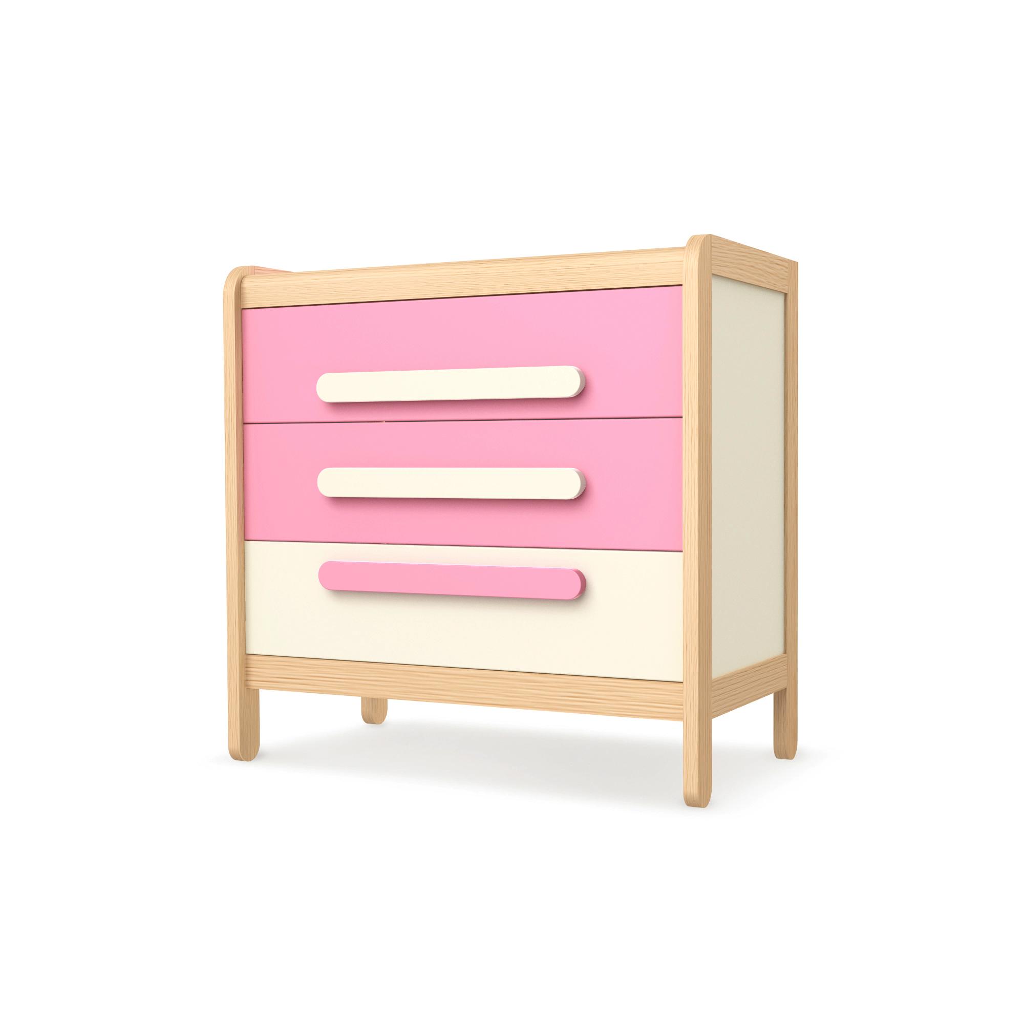 Kommode mit 3 Schüben Simple Pink, Timoore