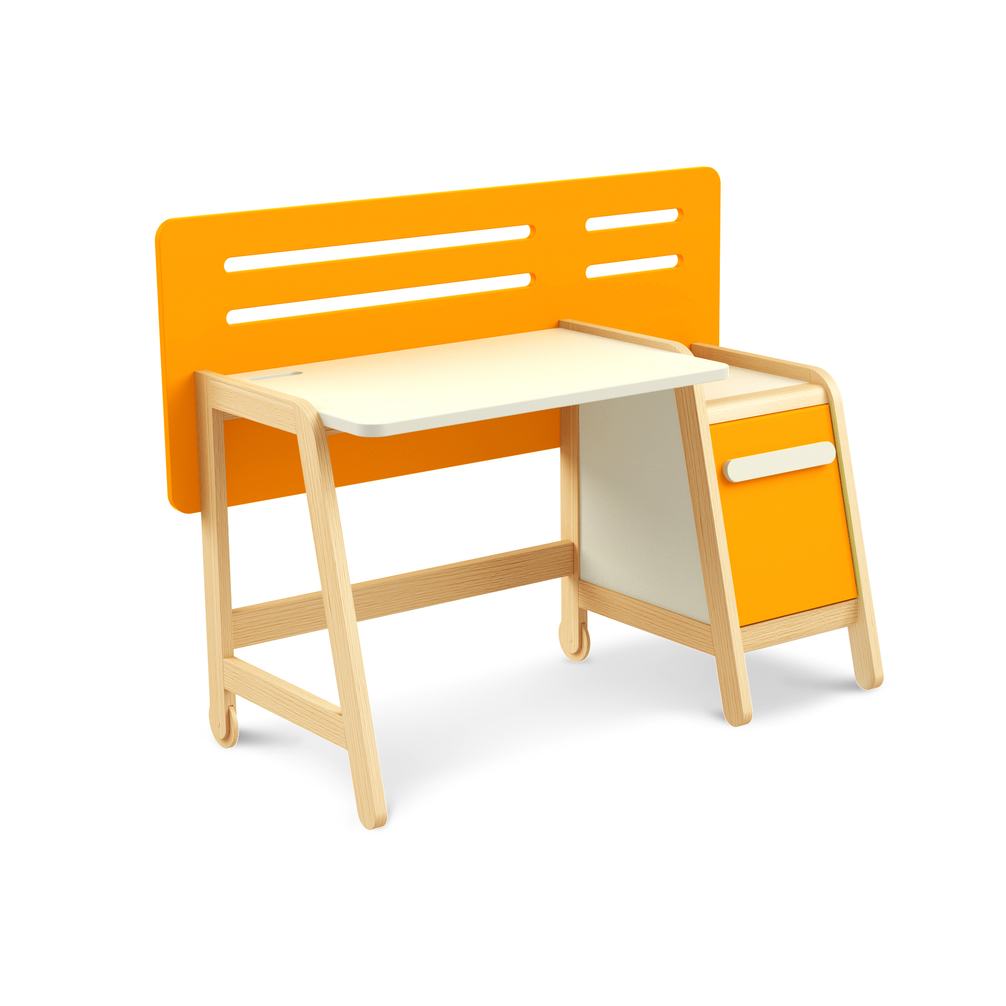 Schreibtisch Simple Orange mit Container, Timoore