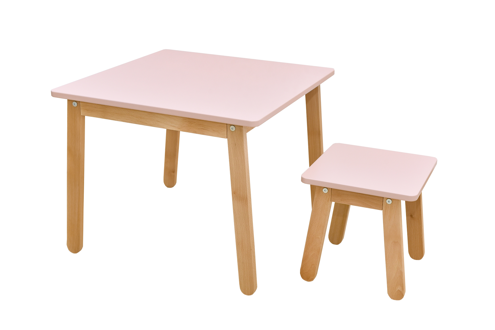 Kindertisch und Hocker Rosa, Bellamy