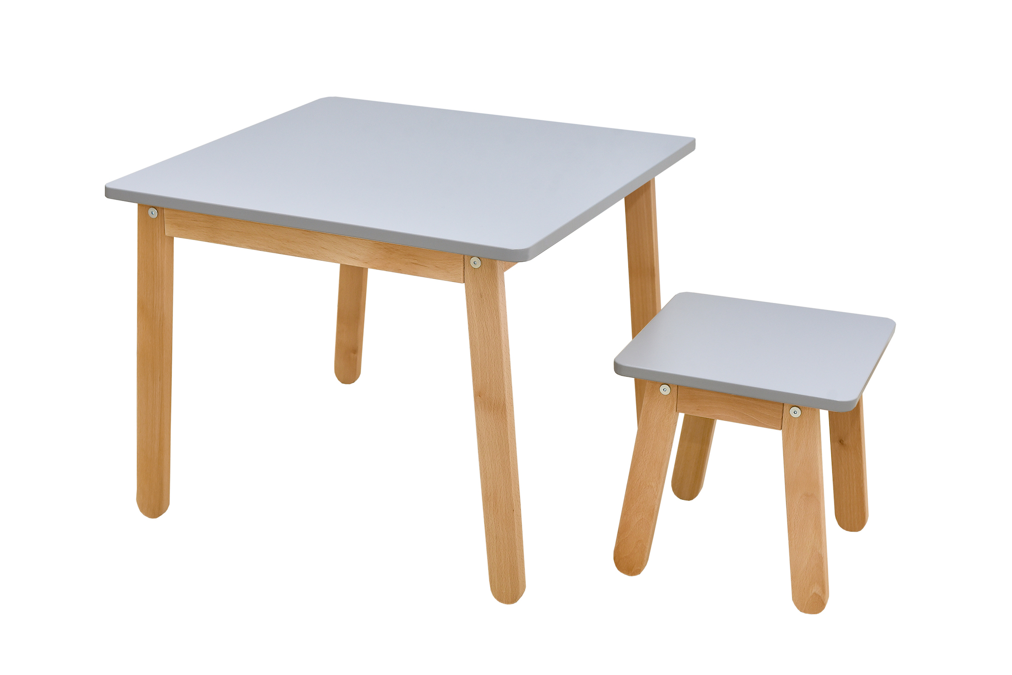 Kindertisch und Hocker grey