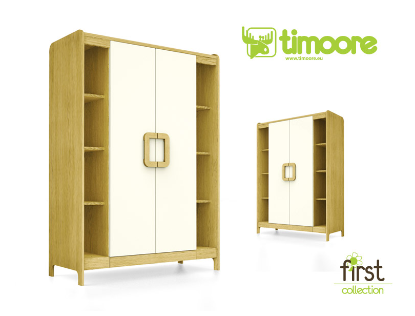 Kleiderschrank First Green mit Regal, Timoore