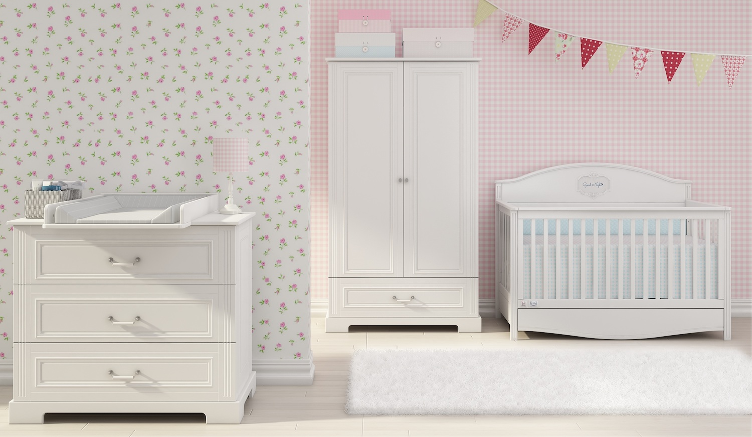 Kinderzimmer Ines White 2T, Bellamy