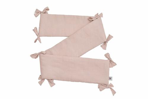 Nestchen / Kopfschutz Leinen rosa