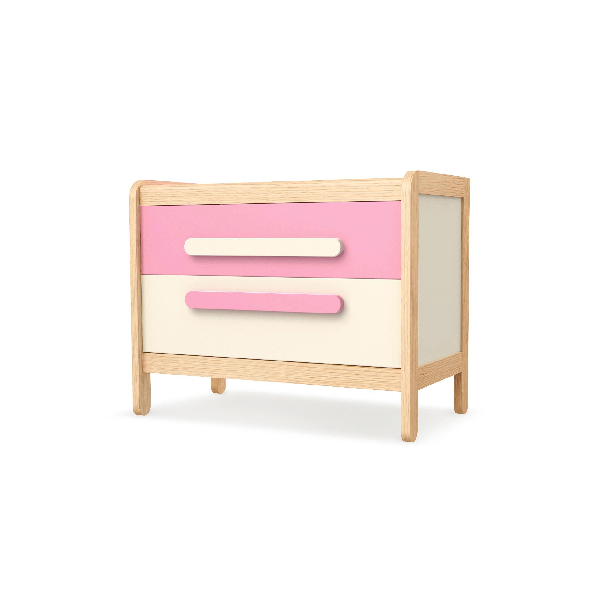 Kommode mit 2 Schüben Simple Pink, Timoore