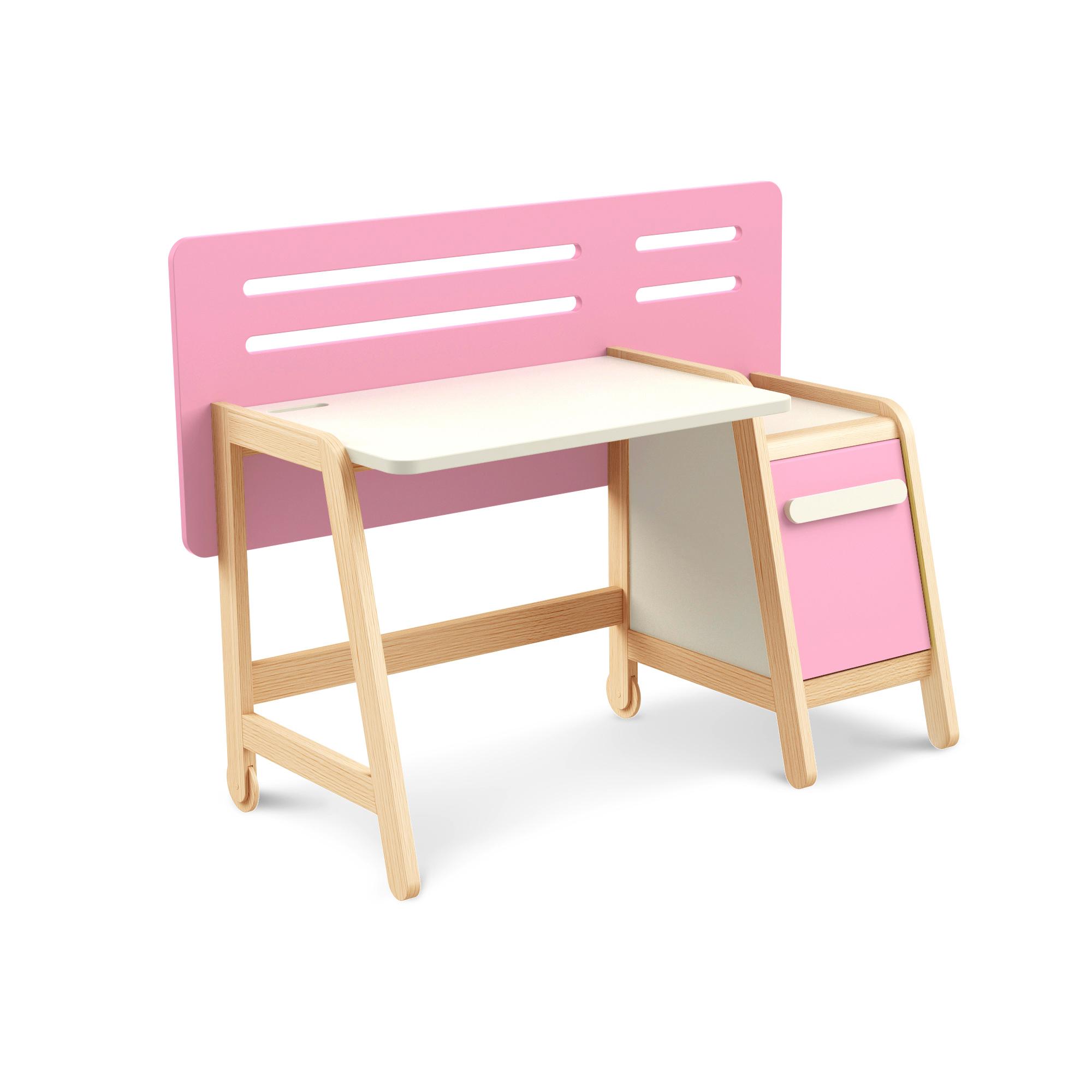 Schreibtisch Simple Pink mit Container, Timoore