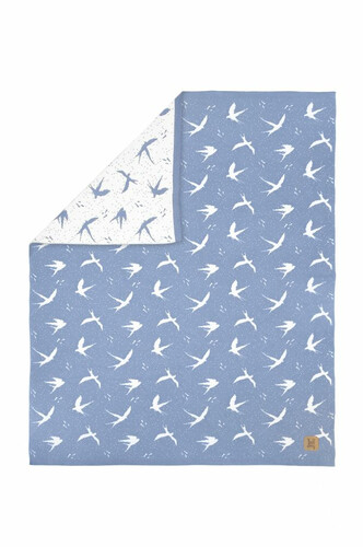 Kuscheldecke Bird Blue, Bellamy