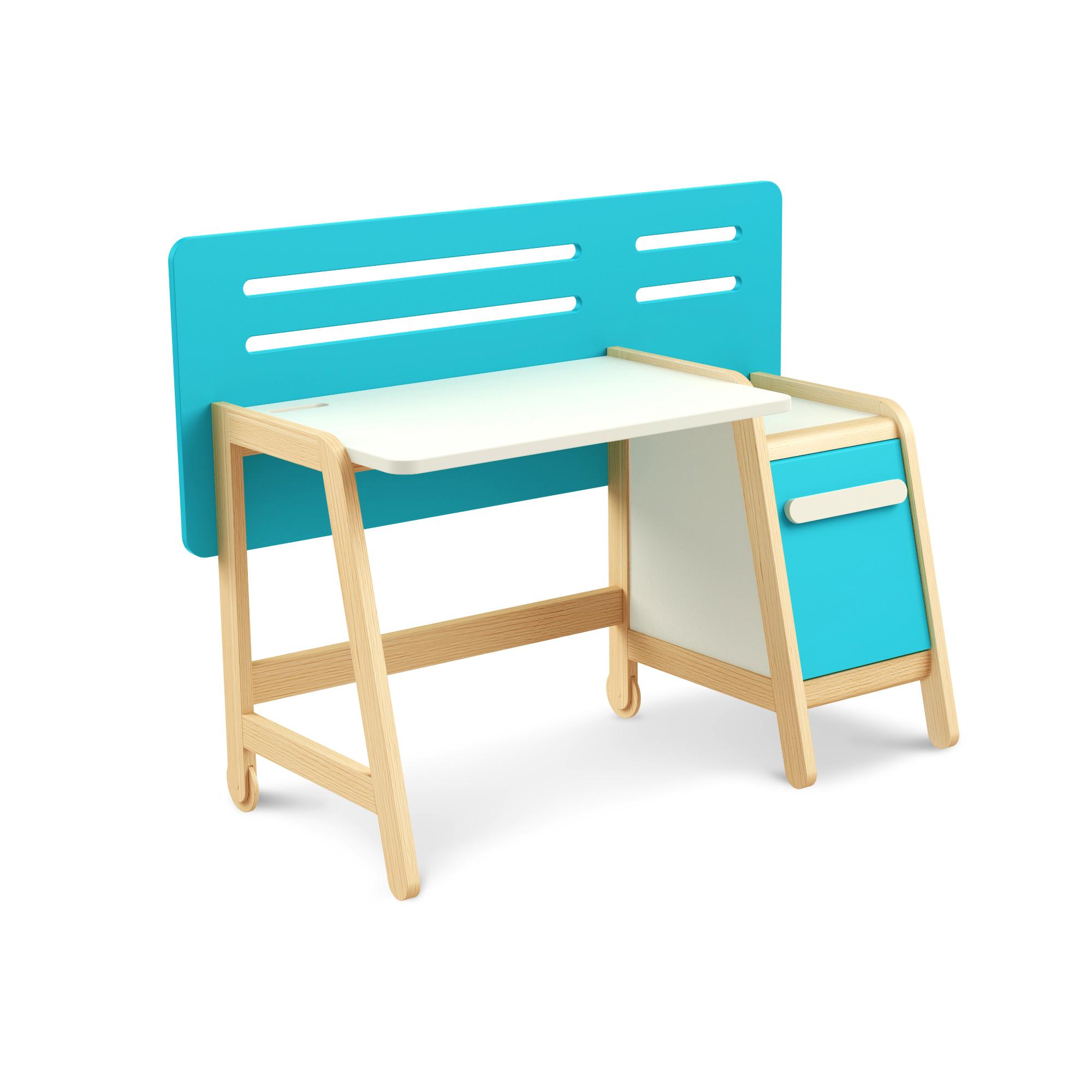 Schreibtisch Simple Blue mit Container, Timoore