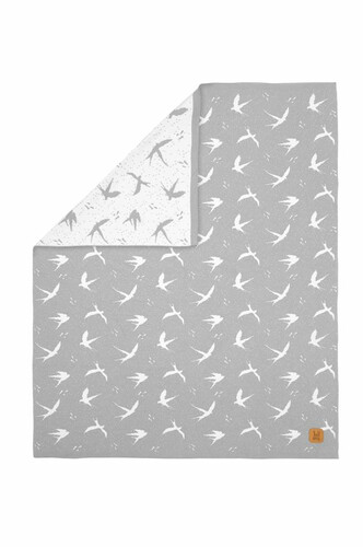 Kuscheldecke Bird Grey, Bellamy