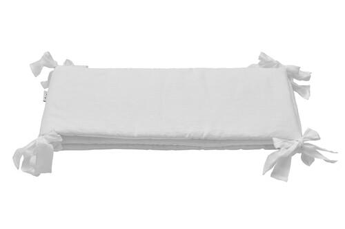 Nestchen / Kopfschutz Leinen weiß