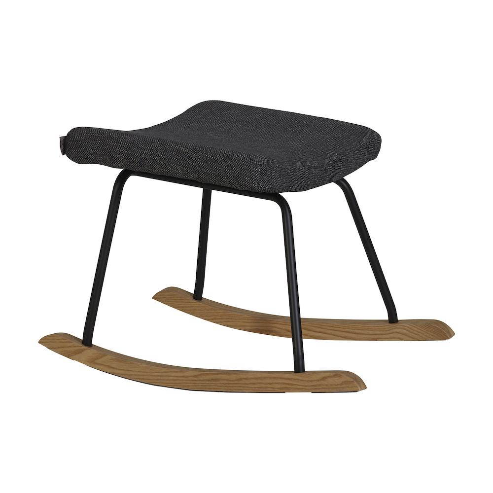 Stillstuhl / Schaukelstuhl De Luxe Black + Hocker, Quax