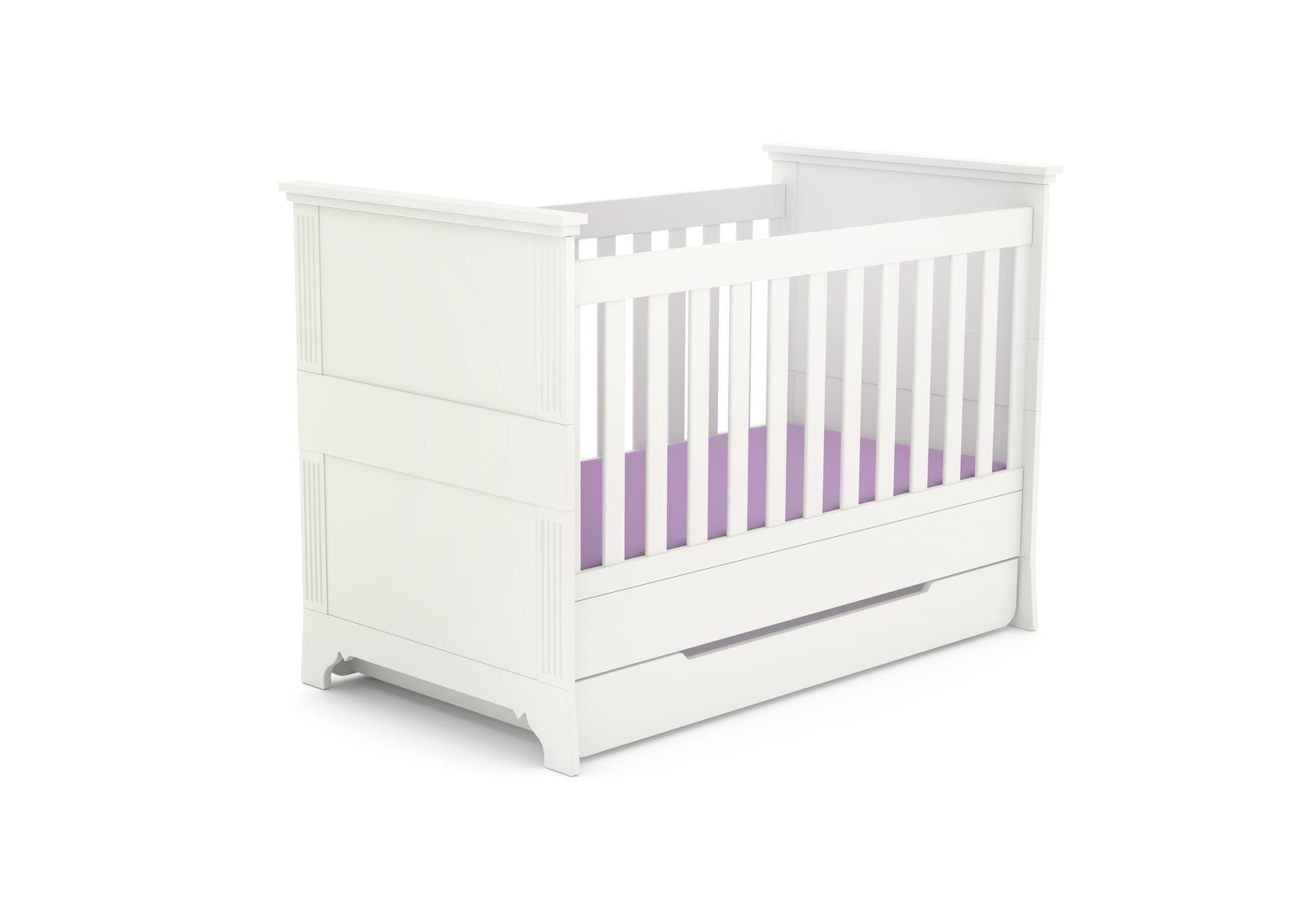 Kinderbett Clariss White mit Bettkasten, Timoore