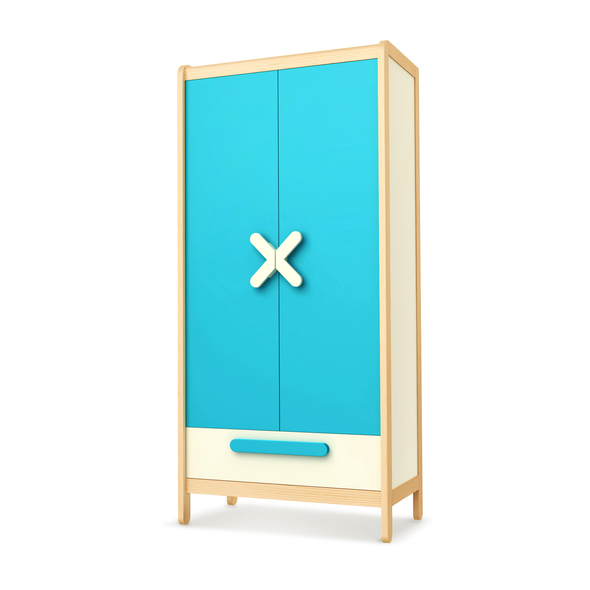 Kleiderschrank Simple Blue, Timoore
